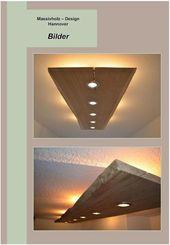 Deckenlampen – Massiv Holz Design Decken Lampe – e…