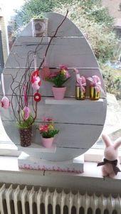 Faites du bois la meilleure décoration pour le printemps et Pâques … 13 idées joyeuses …   – Craft