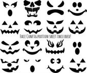 CREATE-A-FACE Halloween Fusible Black Enamel Decals for Precuts Fusing Supplies