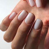 Excellent milky nails