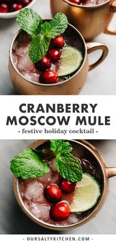 Moosbeere-Moskau-Maultier   – Winter Recipes