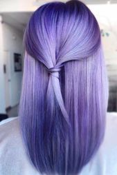 "Lavender ""U"" Cut Hairstyles #lavenderhair #straighthair ★ Explore trendy long haircuts with layers for women. We have ideas for wavy, straight, …"