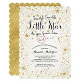 Baby Showers Twinkle Twinkle Little Star Baby Shower Invitation