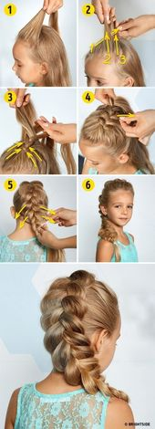 Hairstyles with simple step-by-step braids and stylish tumblr