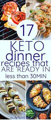 Idées de souper 50+ Keto élaborées en 30 minutes ou moins (mise à jour pour 2019)