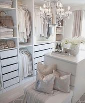 73 Helpful Stroll in Closet Design Concepts for Each Lady Organizing Clothes & Equipment