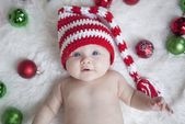 How quickly time flew! This little baby whose newborn pics I did here is already… – Christmas Pictures