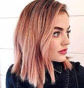 50 unwiderstehliche Rose Gold Haarfarbe sieht aus, dass Sie diesen Trend abziehen können  #abziehen #diesen #haarfarbe #konnen #sieht