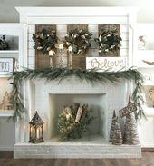 Photo of Kamin Dekorationen Weihnachten Weihnachten Bilder Ideen Elegante Kaminsimse Dekor für Wi …