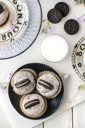 Die allerbesten Kekse & Sahne Cupcakes mit Frischkäse Schweizer Baiser Buttercreme