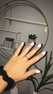 White Coffin SNS Nails, #coffin #nails #white, #AcrylicNails, Acrylic Nails