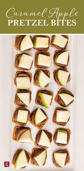 Karamell Apfel Brezel Bites | Einfache Vorspeisen #Appetizers #Caramelapple #Pretzel …   – Appetizers