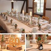 Table decoration for the 80th birthday – table cover yourself