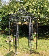 Amazon De Stabiler Gartenpavillon Aus Metall Schwarz Pavillon O