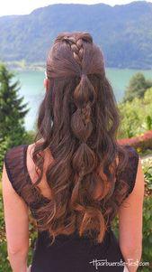 halboffene Frisur anleitung, durchgezogener Zopf -…