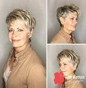 Schicke Kurzhaarschnitte für Frauen über 50, #Chic #frecheLanghaarfrisuren #Haircuts #Short #Women