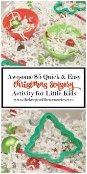 Quick and easy Christmas sensory activity at $ 5 for little kids