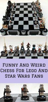 Lego ve Star Wars Hayranları İçin Komik Ve Tuhaf Satranç