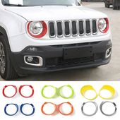 Mopai Abs Car Front Head Light Lamp Decoration Cover Stickers For Jeep Renegade 2015 Up Exterior Accessories Car Styling Jeep Renegade 2015 Jeep Renegade Jeep