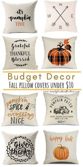 Update your home for Fall with these inexpensive Pillow covers under $10 plus Fr...