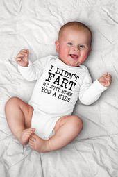 Furz-Strampler, ich habe nicht meinen Hintern geblasen Sie einen Kuss lustige Baby-Kleidung, Poop-Baby-Kleidung, Hipster-Baby-Geschenk, lustige Baby-Dusche, Boy Baby   – Baby