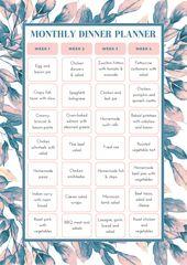 Kostenlose druckbare Planer   – Meal planning