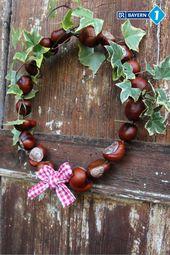 Make chestnut wreath