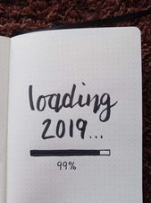 Bullet Journal New Year Cover Pages