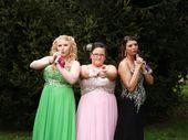 Charlies angels! Prom pose for best friends