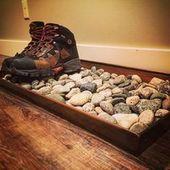 Legen Sie ein paar Steine für Ihre nassen S…