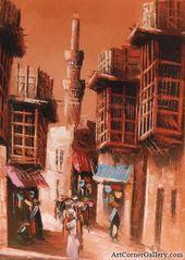 ركن الفن للفنون التشكيلية لبيع اللوحات الزيتية عبر الإنترنت لوحات زيتية بغداديات لوحة زيتية بغداديات Arabian Art Mesopotamia Art