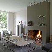 27 Faszinierende minimalistische Kaminideen für Ihr Wohnzimmer
