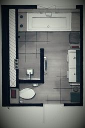Für Edsall Street Hauptbadezimmer (aber mit Tür für die Toilette)