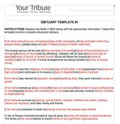 25 Obituary Templates And Samples ᐅ Funeral Program Template