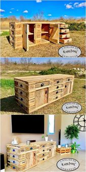 Excellent old wooden pallets, the tops again …