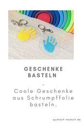 Handabdruck Schlüsselanhänger – Basteln mit Schrumpffolie | Der Familienblog f… – Nadine