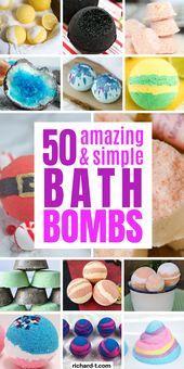 50 einfache DIY-Badebomben, die Ihr Bad verwandeln   – Candle and soap bar scents