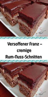 Dried Franz – creamy rum-nut-slices