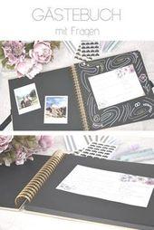 Gästebuch Hochzeit mit Fragen zum Ausfüllen – DIY Hochzeit