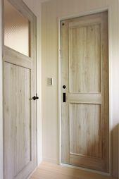 無垢のドアで統一感を出したタイプ リノベーション オリジナル