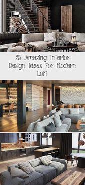 25 Erstaunliche Einrichtungsideen Fur Ein Modernes Loft Modernes Loft Loft Kuche Holzboden