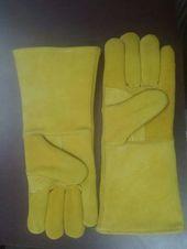 Welding Gloves Whte//Gold PK12 Cowhide