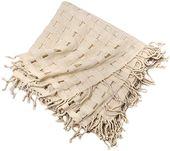 Best Seller Xyuluy Cashmere Shawl, Stylish Elegant Split, Weft Knitted, Hollow Tassel, Warm Decoration Shawl, 130130CM,G online