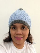 Cable Stitch Hat – crochet hat for women