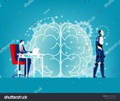 Artificial intelligence process. Concept technology vector illustration, Machine Brain , Programmer with laptop #Ad , #ad, #Concept#technology#process…