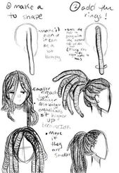 #artwork sketches step-by-step #Drawing #hair #Concepts #sketches #Step         Drawing