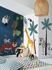 Die Savanne dringt in das Kinderzimmer ein