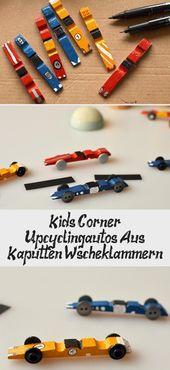 Kinder & # 39; Ecke: Upcycling-Autos aus kaputten Wäscheklammern   – Fingo