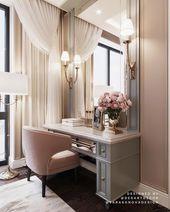 Glamorous Schlafzimmer Designs mit goldenen Akzent…