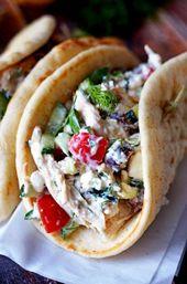 Easy Greek Tzatziki Chicken Salad – Summer Recipes!